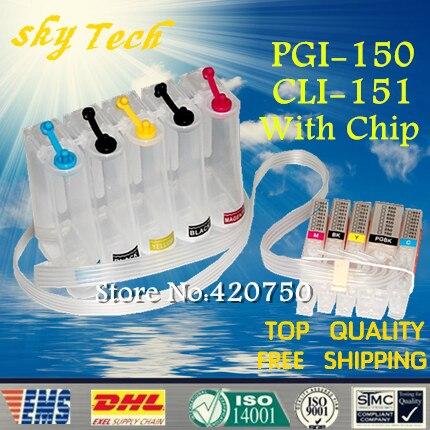 5 Cores terno para PGI150 CLI151 CISS Vazio, CISS Para canon MG5510 MG5610 MG5410 MG6310 IP7210 MX721 IP8710 etc, Com Chips ARC