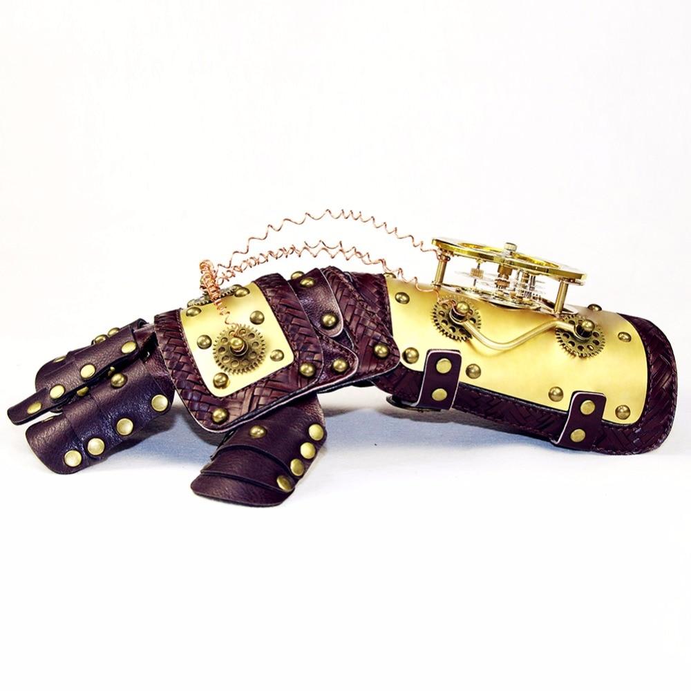 Gear Duke-قفازات جلدية ميكانيكية ، إكسسوارات حفلات الرقص ، عتيقة ، عالية الجودة ، مسننة ، Steampunk