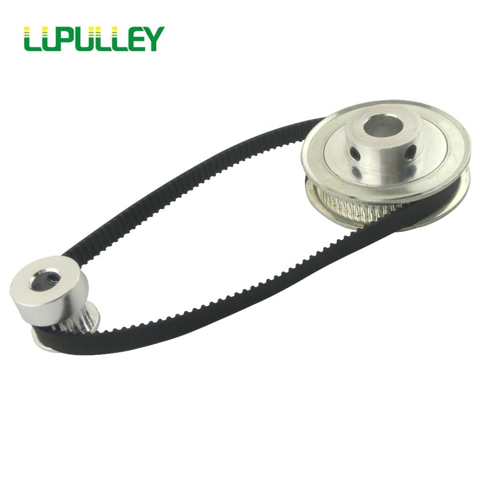 Комплект ременных ремней LUPULLEY GT2, 2GT 20 T 40T 40 T 40 T, Синхронный ролик с редукцией, ремень 280 мм для сплава CNC, черная резина