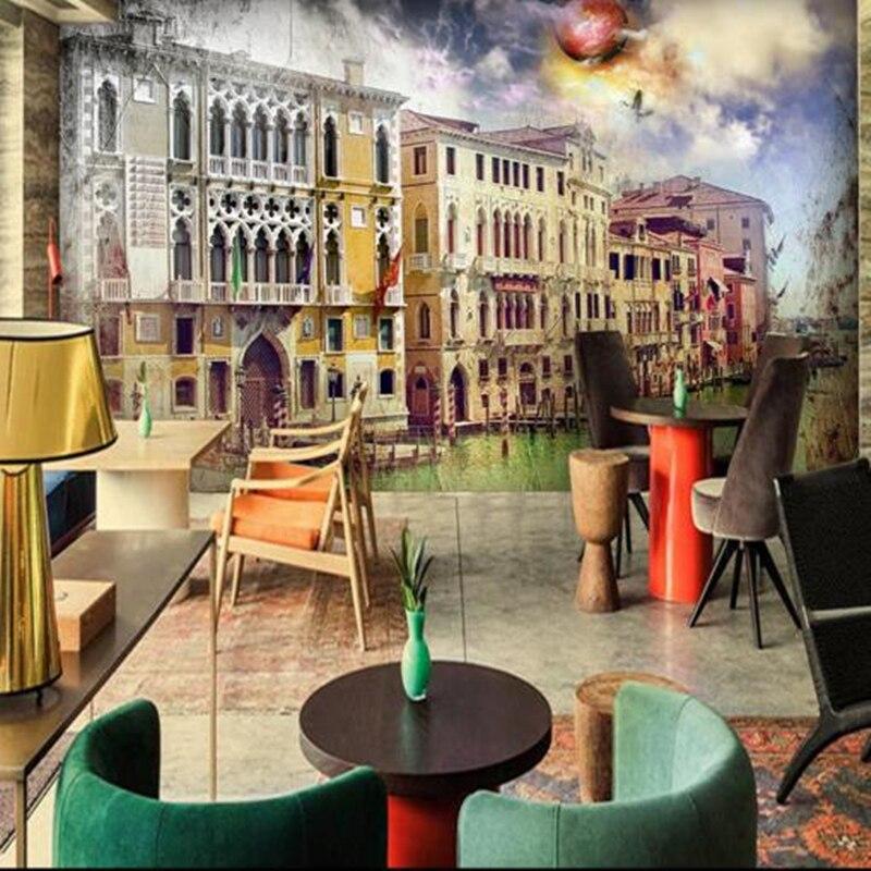 Papel tapiz de foto HD personalizado, murales de pared abstractos 3D góticos Graffiti House, papel de pared de arquitectura para cafetería, tienda de estudio, decoración del hogar