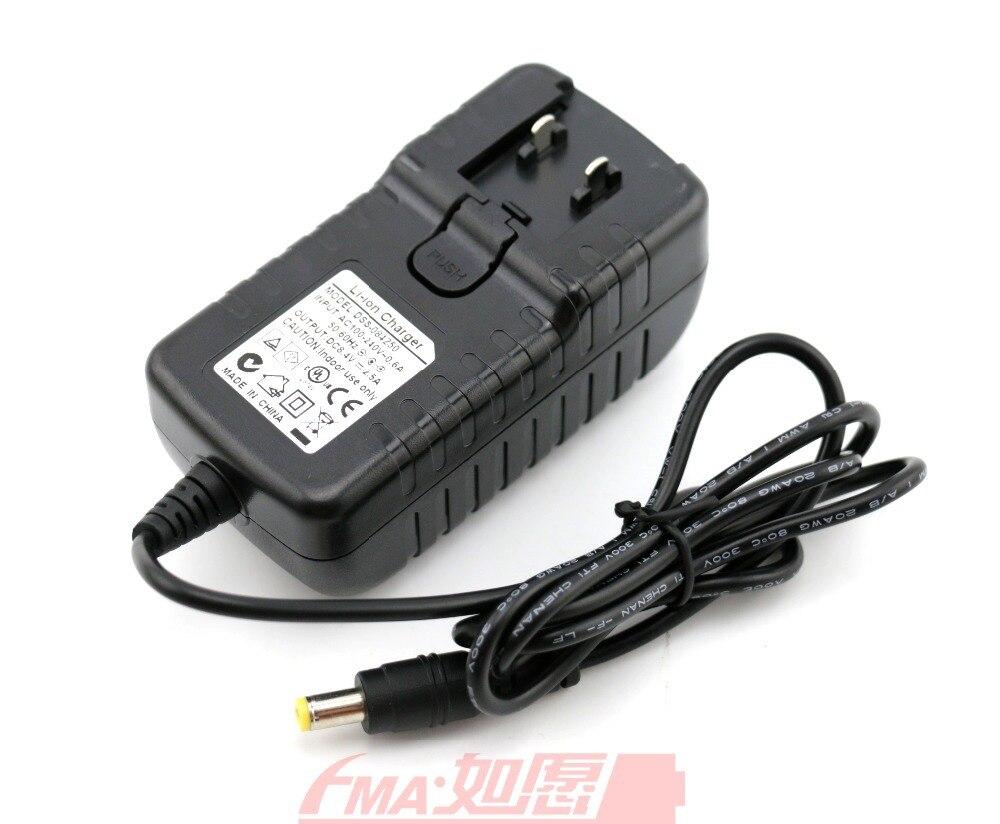 Cargador inteligente de 8,4 V 2.5A para batería LiPo Li-ion de 7,4 V 7,2 V para luz LED de bicicleta MagicShine w/ extraíble macho nos UE Reino Unido es