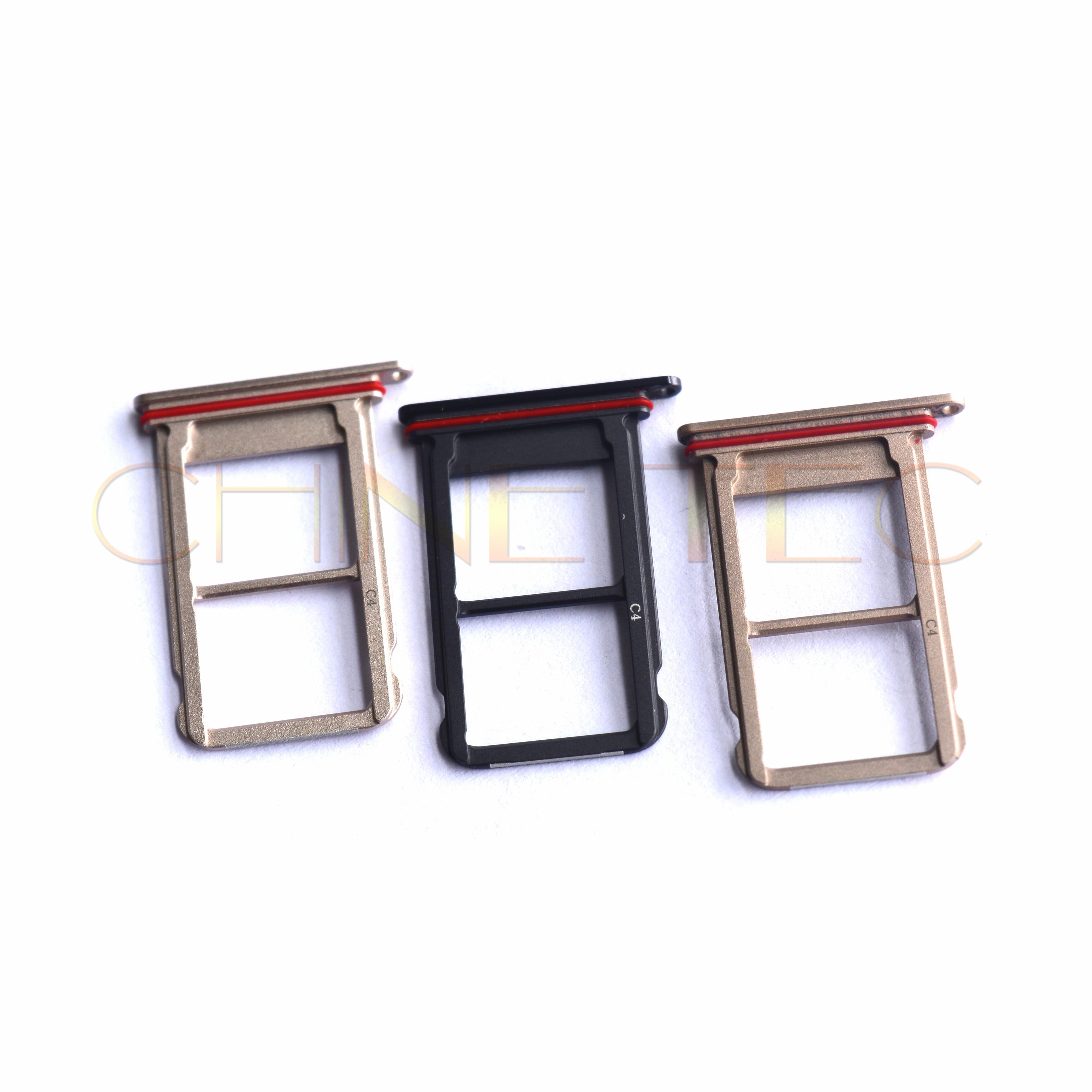 10pcs Nano SIM/ Micro SIM Card reader Tray Holder Micro SD Card Slot Holder Adapter for Huawei Ascend mate 10 pro