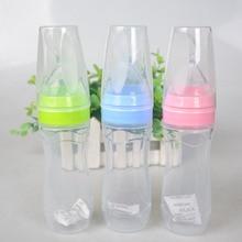 Extrusion de bouteille dalimentation en Silicone   Pour bébés, Type alimentation pour bébés, cuillère pour enfants pour nourrissons, pâte de riz, bouteille de 120ml