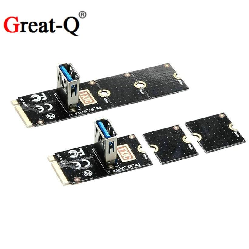 NGFF to PCI-E pci express Riser Card M.2  to PCIe Expansion Card Convertor USB 3.0 m2  card недорого