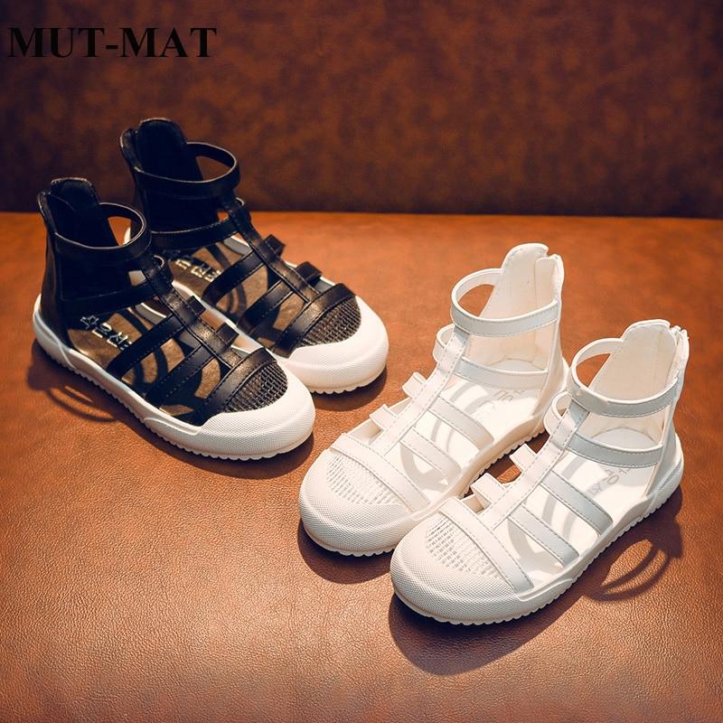 Zapatos para niñas NOVEDAD DE VERANO 2019, sandalias de moda para niñas, zapatos romanos de fondo suave, zapatos de princesas para niñas pequeñas