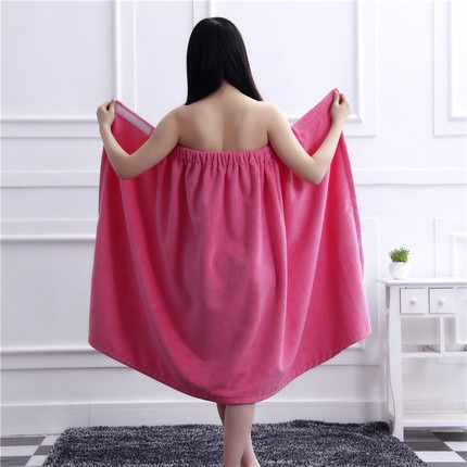 Puede usar envuelto baño falda cabello seco sombrero traje de los hombres y las mujeres pueden usar Toalla de baño salón de belleza top recto y sexi absorbente Albornoz
