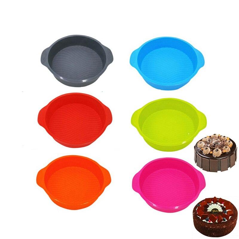 Круглая форма 3D, силиконовая форма для хлеба пирога, сковорода для выпечки тортов, форма для выпечки, лоток для выпечки торта, инструменты дл...