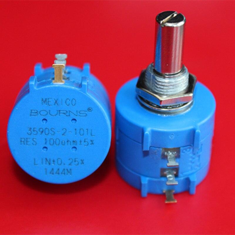 Original BOURNS 3590S-2-101L 100R 2 W precisão multi turn potenciômetro de 10 voltas interruptor