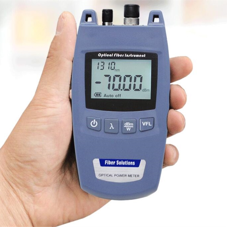 Mini FTTH 2 en 1 medidor de potencia óptica de fibra y 10mW 10km Localizador Visual de fallos TL520-70dBm ~ + 10dBm FC/2,5mm interfaz Universal