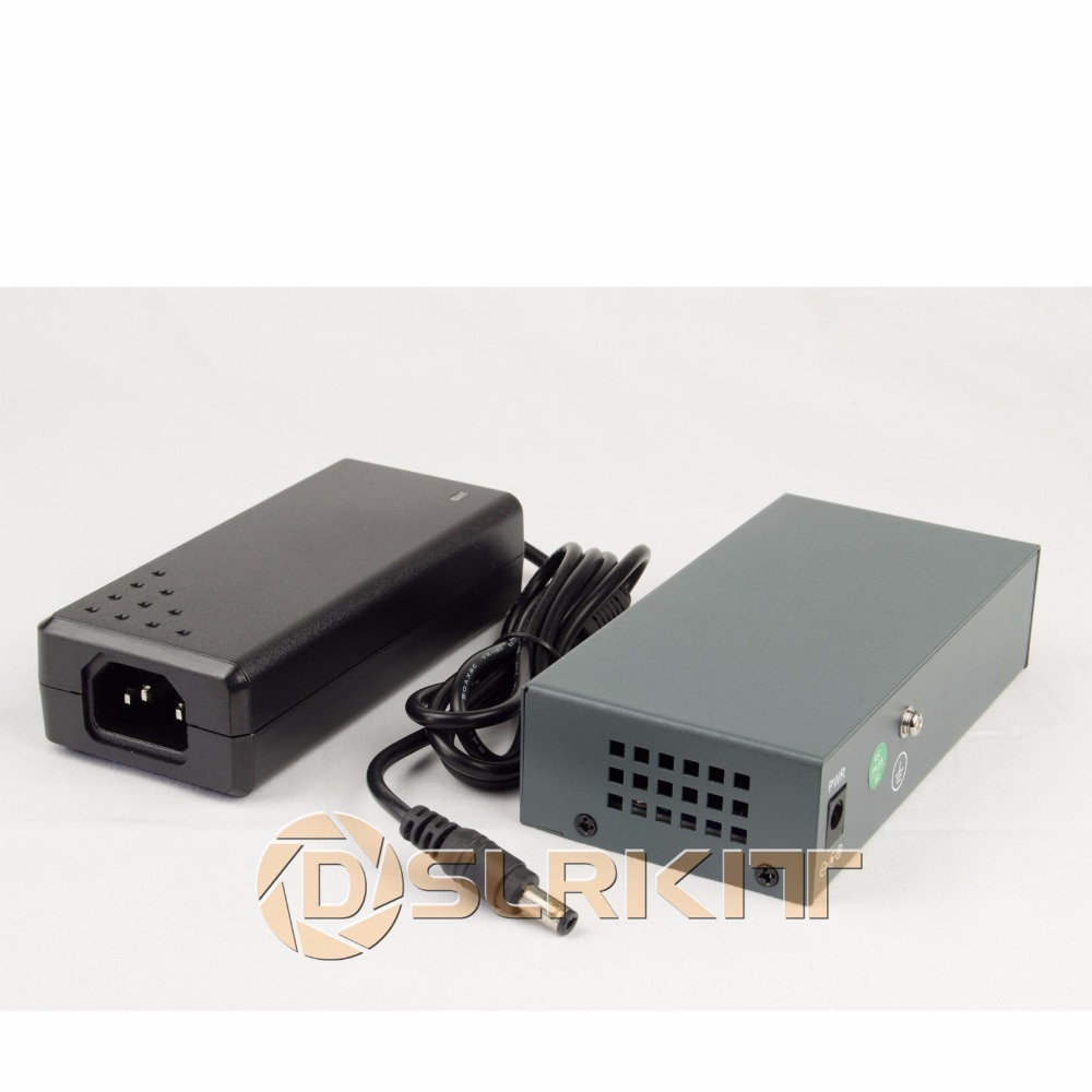DSLRKIT 250M 6 Ports 4 PoE Switch Injector Power Over Ethernet 75W max.90W with 52V 1.85A Power Adapter enlarge