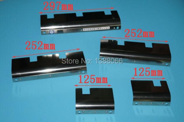 Guía de LS-40 Komori, separador de hoja de máquina komori LS40, piezas de repuesto de offsetpress komori, alta calidad, ancho = 297mm, 252mm, 125mm