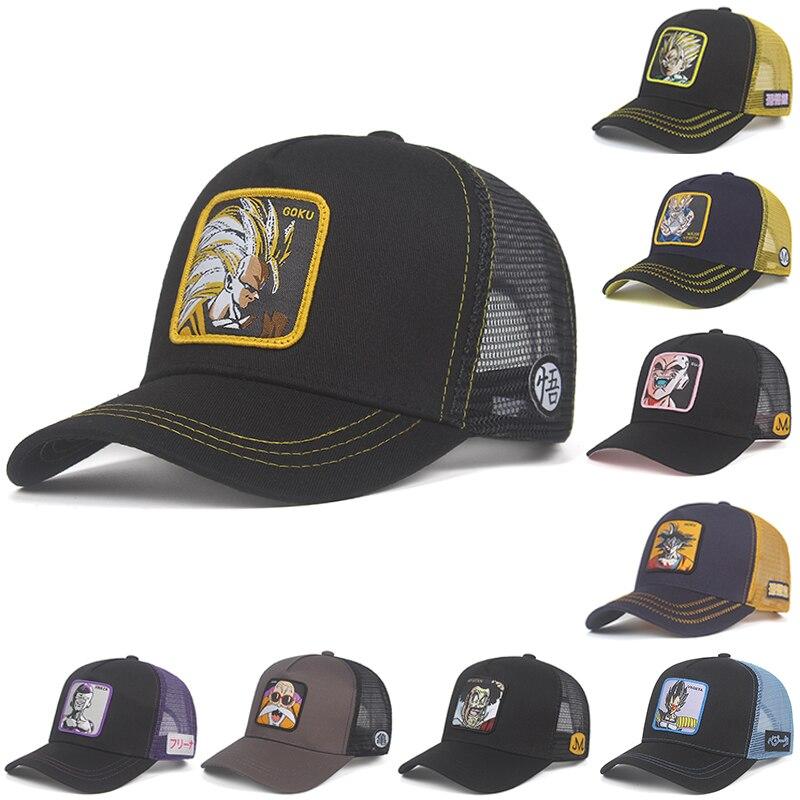 Новая брендовая бейсбольная кепка VEGETA Capsule corp. Dragon Ball Snapback, хлопковая кепка для мужчин и женщин в стиле хип-хоп, для папы, сетчатая шляпа для водителя грузовика, Прямая поставка