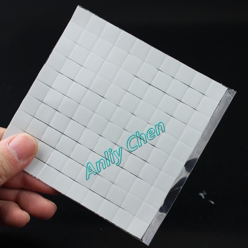 Lote de 100 unidades de chips IC blancos 10x10mm Xbox PS PC VGA Chipset almohadilla térmica de conducción de silicona
