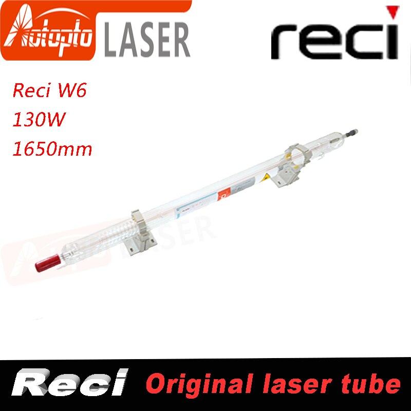 Tubo láser Reci láser tu W6 Co2 130W 150 W 150 Watt Co2 tubo láser de vidrio para máquina cortadora de grabado láser CO2