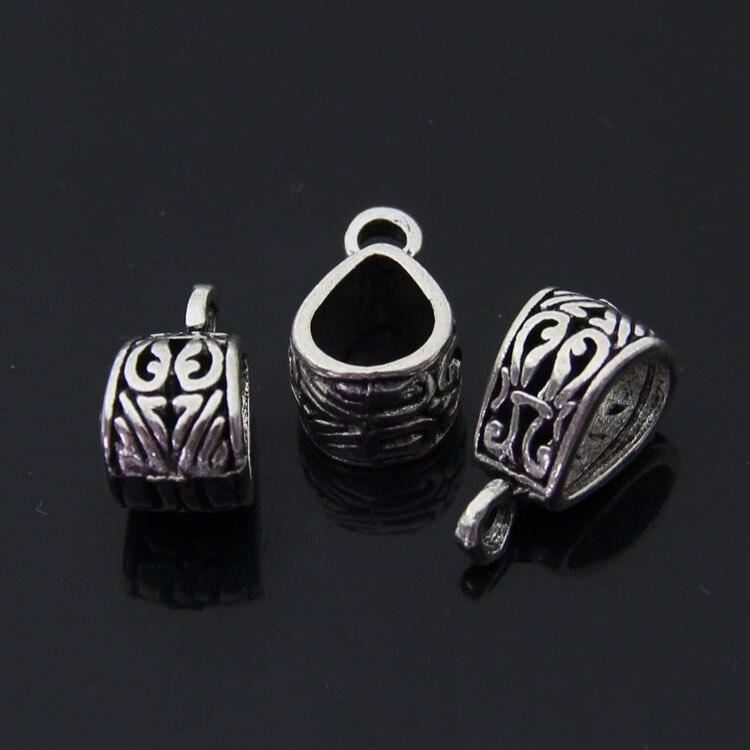 Trasporto libero commercio allingrosso di fascini dargento componente gioielli fai da te 10*19mm 15 pz sciarpe fibbia tee