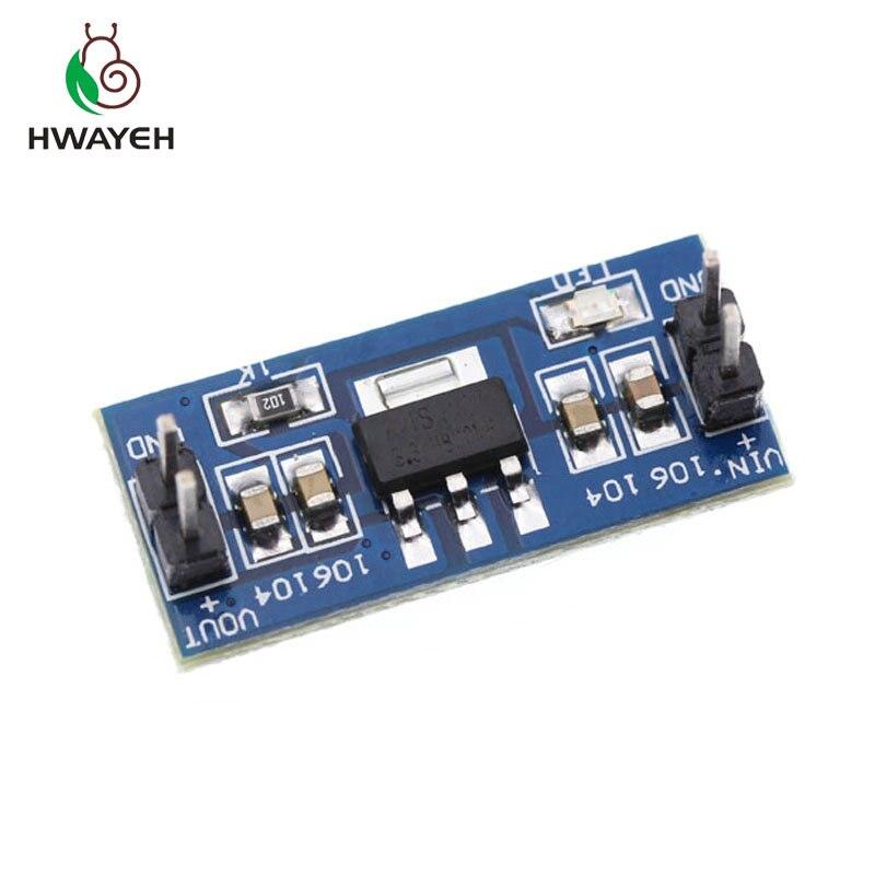 10 Uds. AMS1117 5V (4,5-7 V) Turn To 3,3 V DC-DC reductor de fuente de alimentación módulo Buck para Raspberry pi