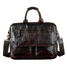 Leather Heavy Duty Mens Best Professional Travel Briefcase Business Portfolio Organizer Laptop Tote Shoulder Messenger Bag 8951