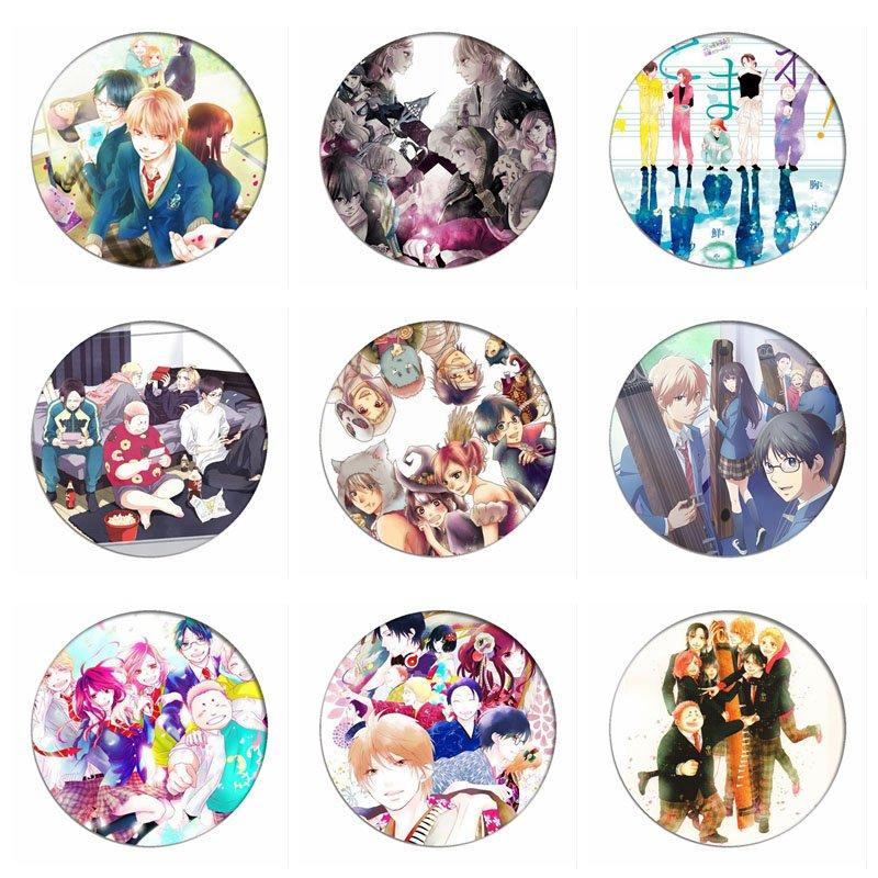 Kono Oto Tomare insignias de Cosplay Kudo chika broche Kurata Takezo Icon colección bolsa de pecho para mochilas ropa