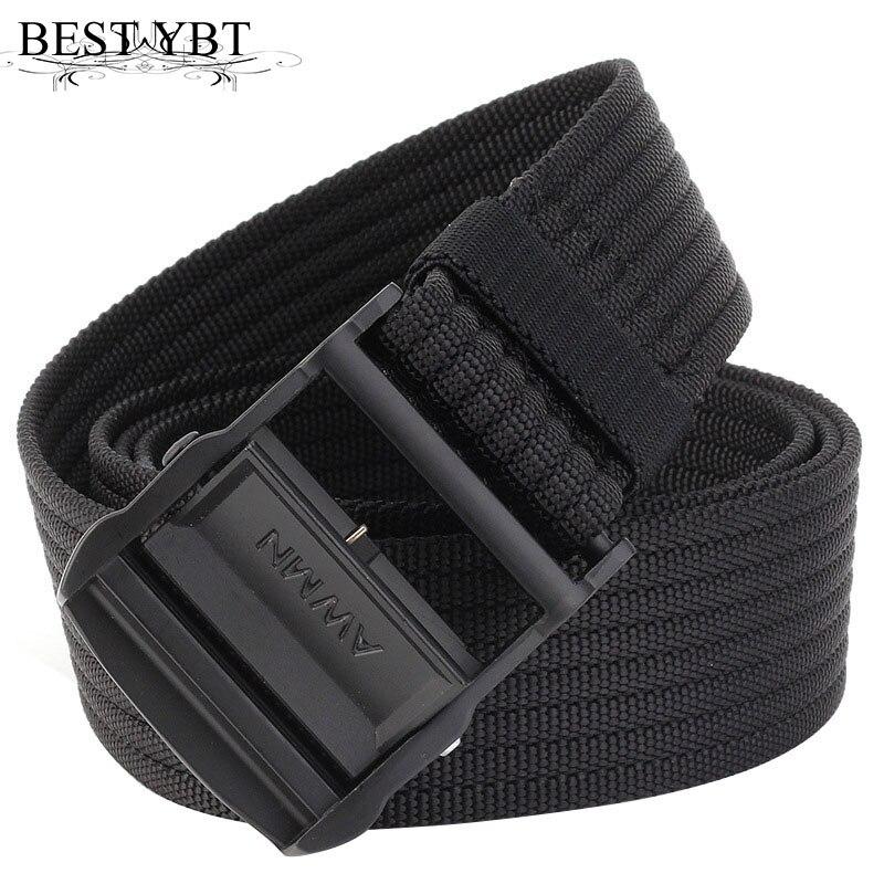 Best YBT Unisex canvas belt fashion Alloy Clip buckle Men belt trend casual Men outdoor sport cowboy high quality belt