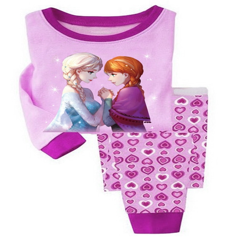 2018 Cartoon Kids Pajama Set Children Warm Cotton Pyjamas Leggings Pants 2pcs Baby Girl Boys Pyjamas Clothing Suit 2-7T