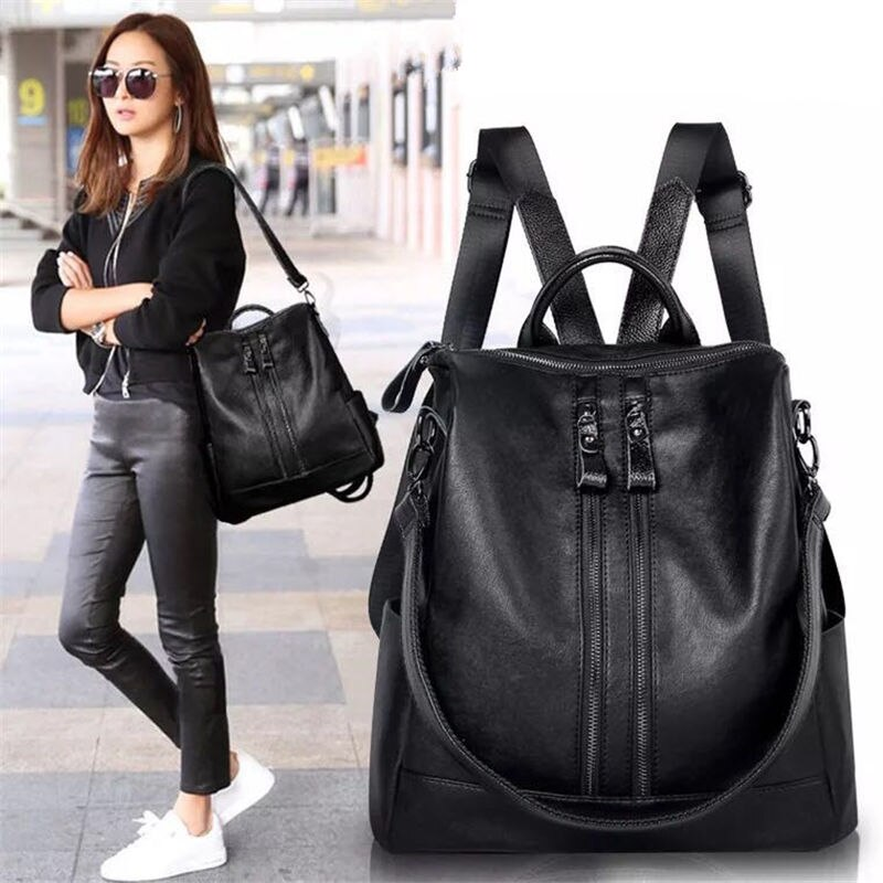 2017 Fashion Women Backpack High Quality Youth Leather Backpacks for Teenage Girls Female School Shoulder Bag Bagpack mochila