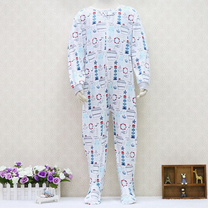 Peleles de una pieza para niños de 2 a 7 años de edad, ropa de algodón de manga larga 100% con cremallera, ropa para niños y niñas