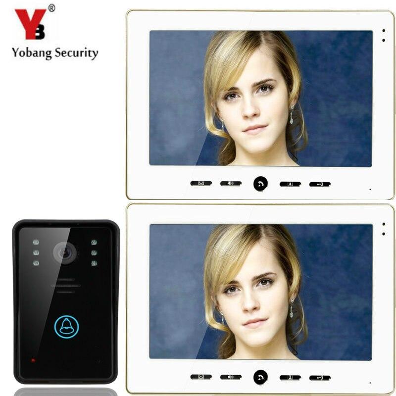 "Yobang, estación de seguridad para exteriores Villa + timbre de puerta de vídeo 10 "", Panel de llamadas, videoportero intercomunicador para casa inteligente"