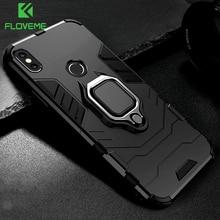 FLOVEME 3 in 1 xiaomi için telefon kılıfı Kırmızı mi not 5 4 4X KıRMıZı mi 6 Pro için Manyetik Halka Tutucu Kapak xiao mi mi A2 A1 mi 8 Max3 kılıfı