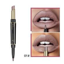 Pudaier New Womens Double Head Lipstick Lip Liner Matte Matte Lipstick Rotation Lip Liner Non-stick Cup Lipstick