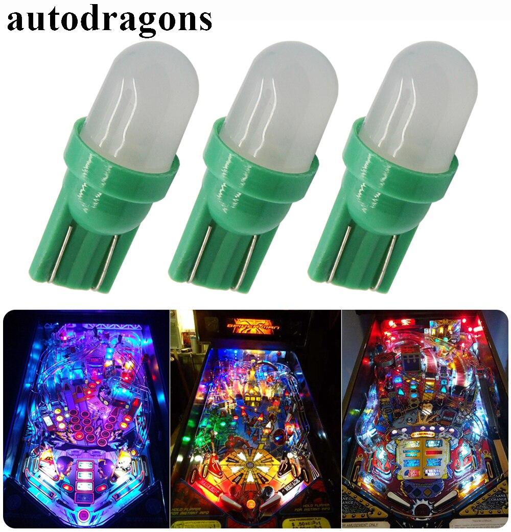 Светодиодные лампы autodragons W5W 555, 100 шт. в упаковке, 6,3 в перем. Тока, 6 в, для игрового аппарата bally, янтарного цвета