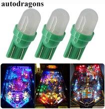 Autodragons-ampoules led à 100 V 6V   Paquet de 555 ampoules frost W5W 6.3 ac, pour machine bally game, couleur ambre