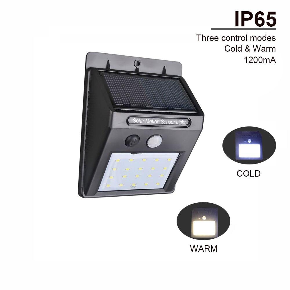 Impermeable 35 LED luz Solar 2835 SMD, energía Solar blanca para exteriores, jardín luz por movimiento PIR, Sensor de camino lámpara de pared 3,7 V 30leds
