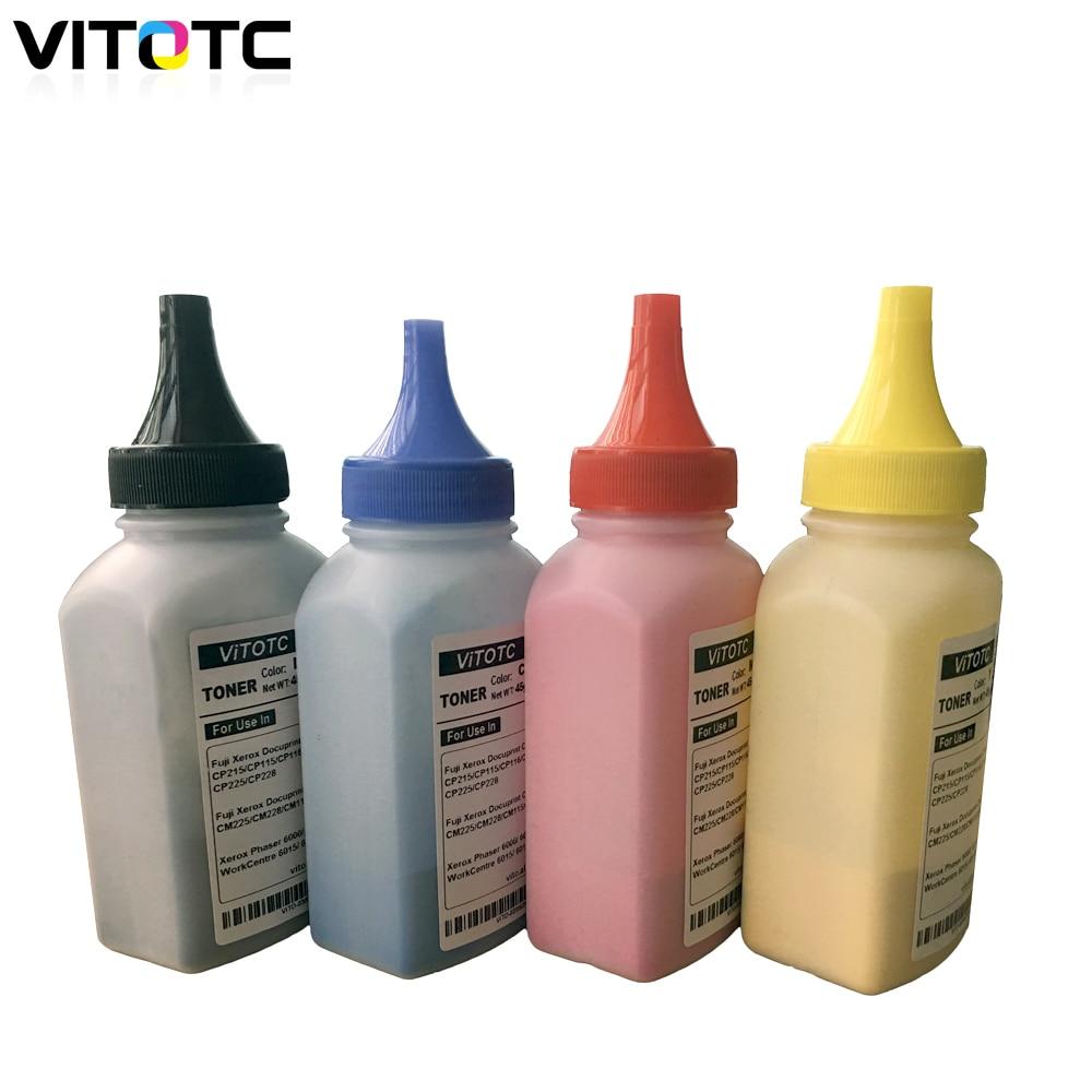 4 Uds Toner polvo para Xerox Phaser 6020 de 6022, 6010 Workcentre 6015, 6025, 6027, 6028 impresora láser embotellada tóner de Color recarga restablecer