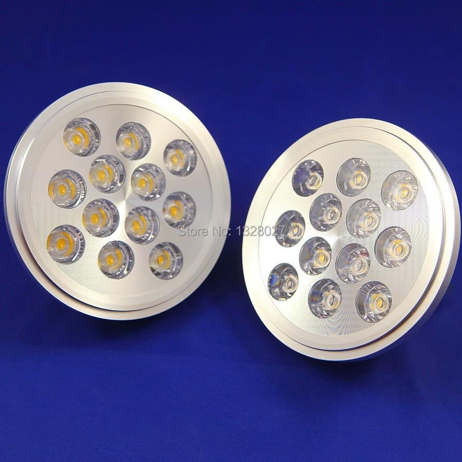 12 W LED AR111 lámpara luz descendente LED AR111 olla lámpara Copa 12 W luces de pista iluminación rejilla luz delineador envío gratis