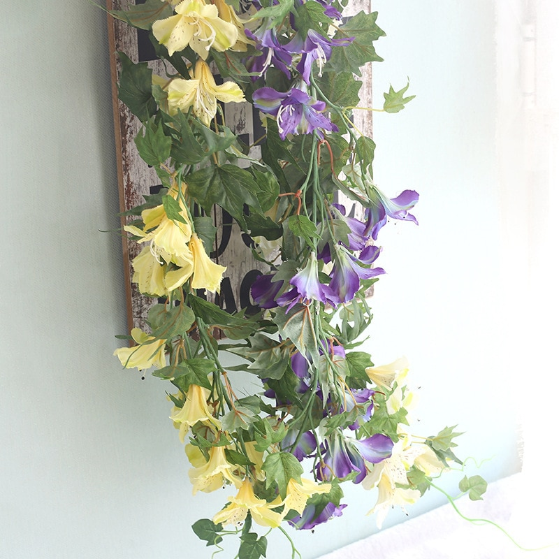 ¡Producto en oferta! Flor de azalea artificial hermosa de 3 colores, flor artificial de decoración de mimbre, gloria de la mañana