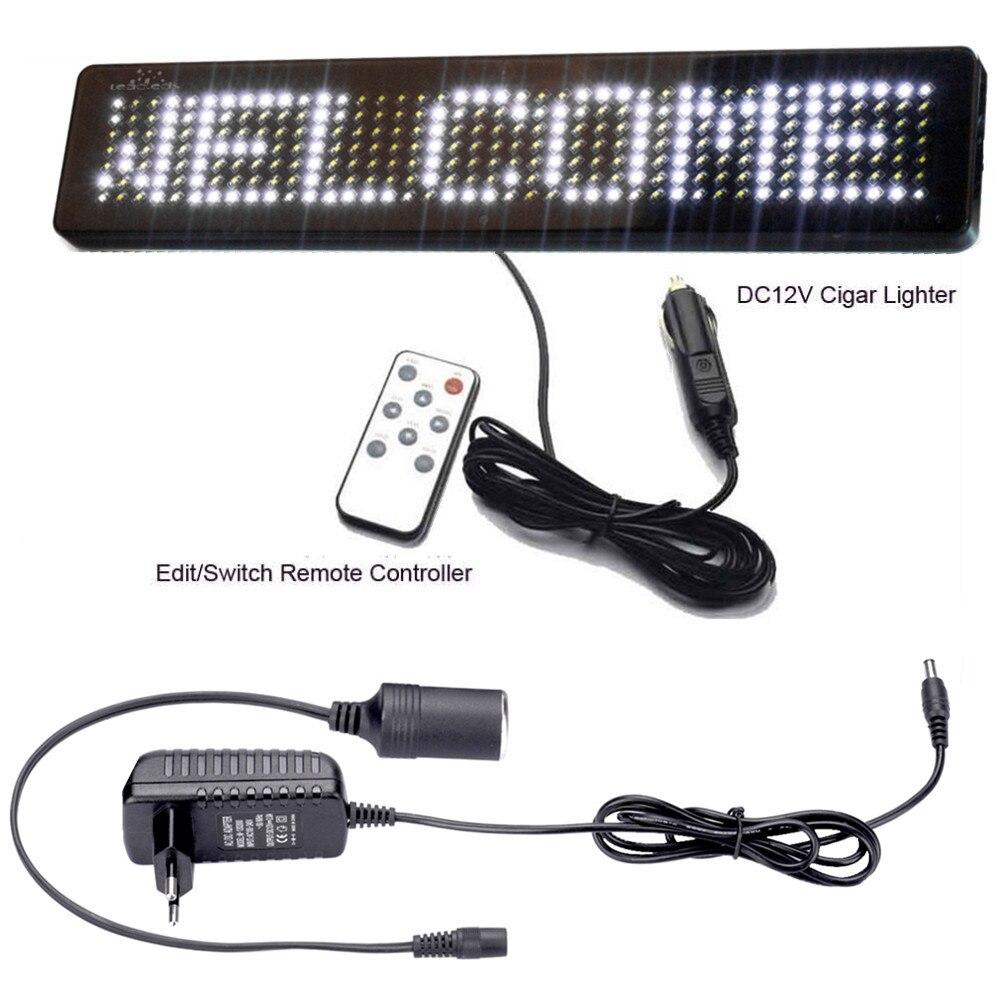 AC 100-240 В напряжение магазин выход: DC12V автомобильный светодиодный дисплей доска DIY белый прокрутка новости дисплей