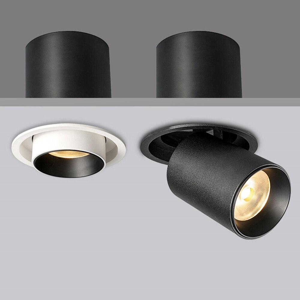 Hartisan أضواء LED جزءا لا يتجزأ من السقف الكاشف قابل للتعديل زاوية تدوير الأضواء متجر المنزل الجدار مصباح التوقف الأثاث
