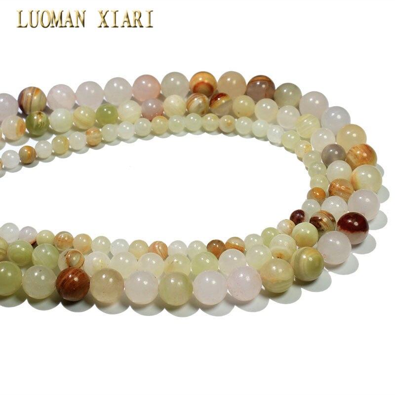 Hurtownie naturalne afgańskich Jades kamień okrągły koraliki do tworzenia biżuterii bransoletka Zrób To Sam naszyjnik rozmiar, 6mm, 8mm, 10mm, około 38 cm/strand