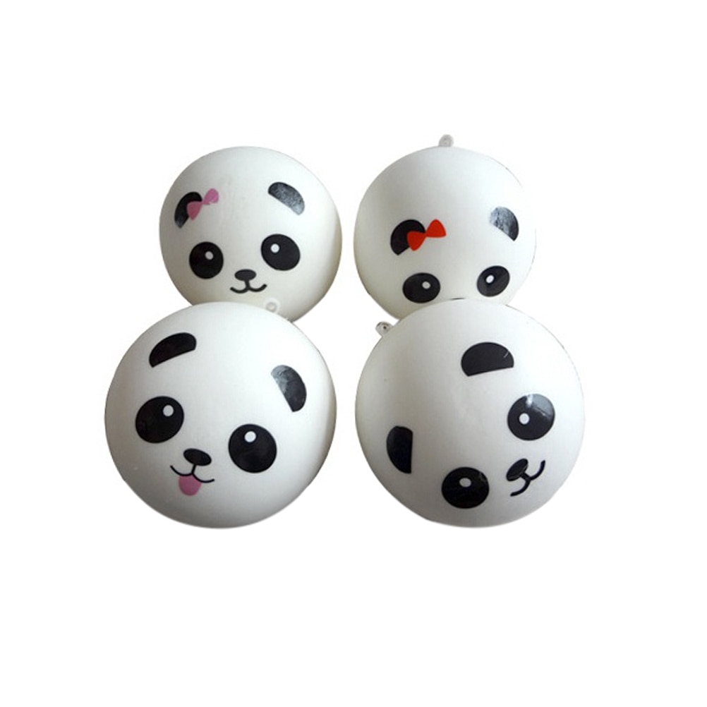7cm Cute Squishy Panda Buns Bread Charms 1PC Key/Bag/Car/Cell Phone Straps