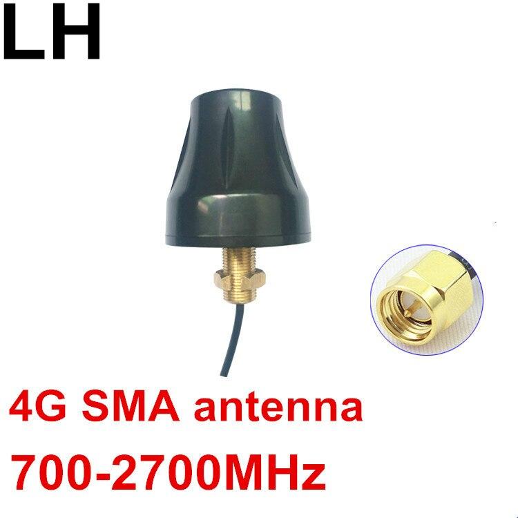 OMNI-هوائي ملولب 700-2700 ميجا هرتز ، LTE منخفض المستوى ، 4G ، sma