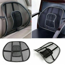 1Pc Mesh Lumbar Back Support Cushion Seat Posture Corrector Car Office Chair Home Supplies