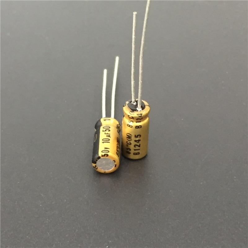 10pcs 10uF 50V NICHICON FG(Fine Gold) 5x11mm 50V10uF Top Grade Audio Capacitor