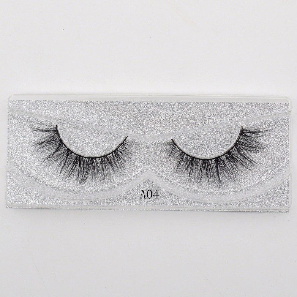 Visofree False eye lashes handmade natural make up  1 pair  False eyelashes sexy Extension for Beauty Makeup 3D Mink Lashes A04