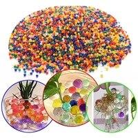 Perles deau de sol en cristal en forme de perles  decor pour la maison  boule de Gel Bio pour fleurs desherbage  boule de gelee magique de croissance  10000
