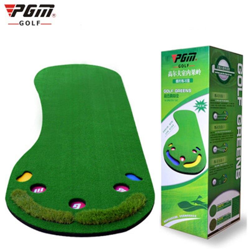 PGM marca Golf Putter de entrenamiento práctica profesional de Golf verde alfombra Pies Grandes Golf esterilla de entrenamiento alfombra de césped Artificial verde