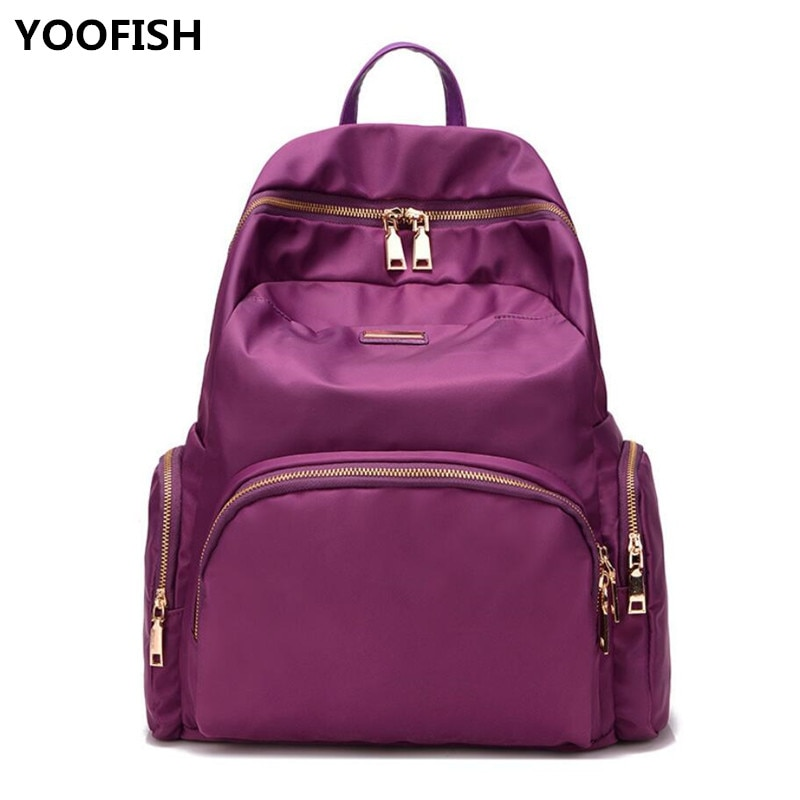 New Casual Nylon Backpack Women Large Capacity Waterproof Nylon School Bags for Teenage Girls Fashion Travel Tote Backpack.