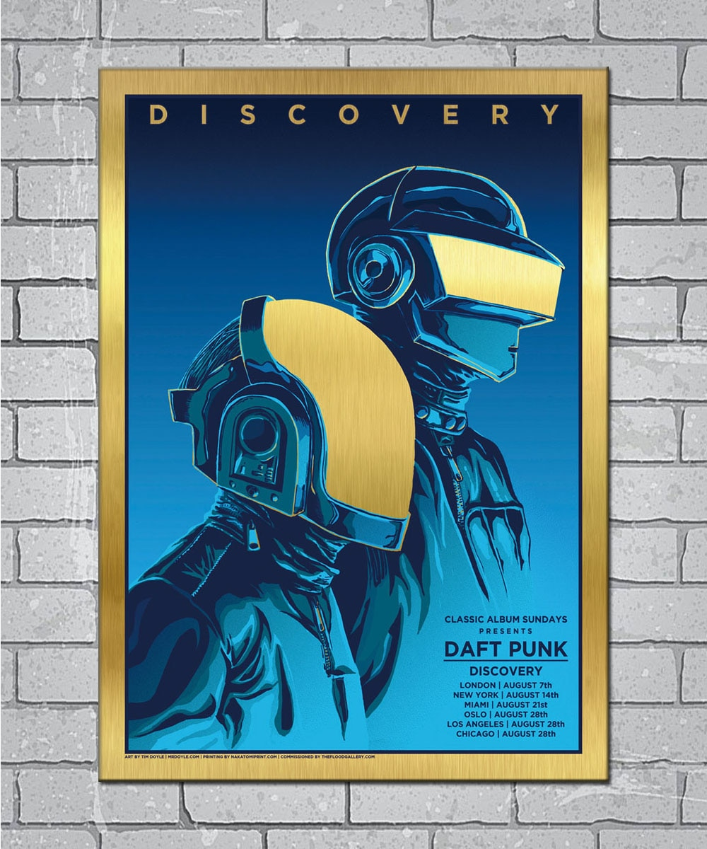 Daft Punk The Weeknd Discovery Starboy lienzo ligero personalizado Poster 24x36 27x40 pulgadas decoración del hogar N840