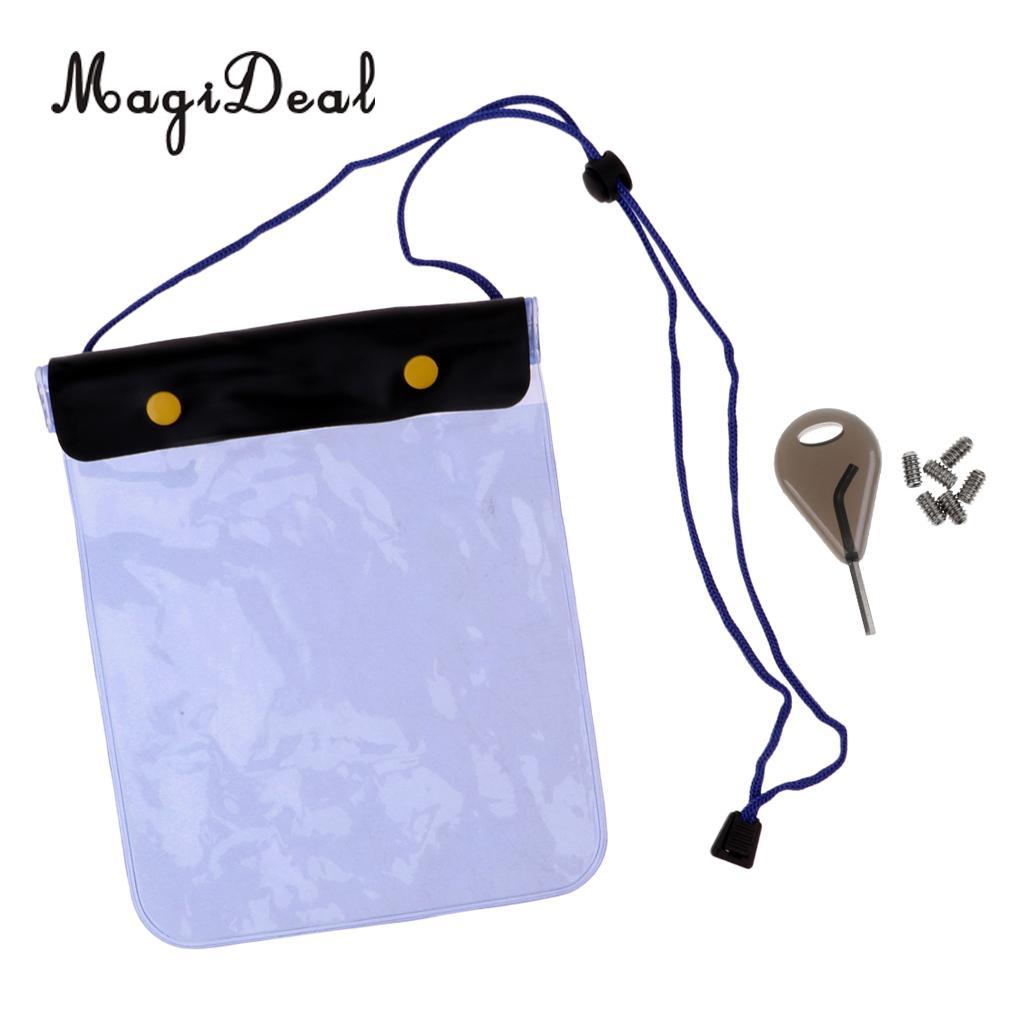 MagiDeal, Surf, aleta, tornillos y bolsa seca impermeable, billetera para deportes acuáticos, Surf, Wakeboard, Longboard, corta