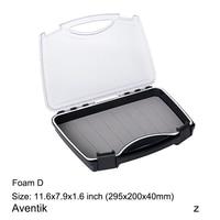 Aventik Plastic Waterproof Fly Fishing ABS Clear Slit Foam fly Fishing Box 11.6 X 7.9 X 1.6 inch Big Flies Box