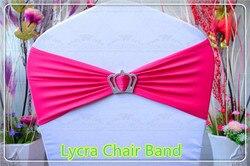 1-2 -- Com Coroa Fivela -- Spandex/Cadeira Lycra Banda/Expandir Bandas/Cadeira tampa faixa/tabela Para O Partido Banquete Do Casamento Decoração